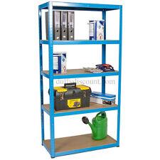 Boltless Garage Shelving Shed Bay Racking 1800x900x450mm 175kg UDL 5 Levels