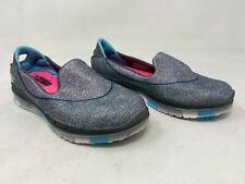 New! Girls Toddler Skechers 81078 Go Flex - Walk Slip On Charcoal/Blue D49