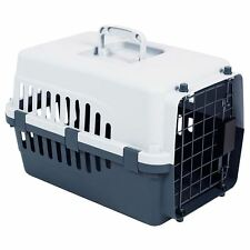 Pet Carrier Cage Dog Cat Kitten Puppy Travel Vet Transport Box White Grey Large