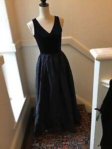 Vintage Laura Ashley Silk And Vevet Dress Size 10