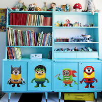 Avengers Minions Batman Spider man Green Hulk Ninja Wall Stickers Boy Decals