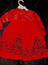 NEW WONDERKIDS CHRISTMAS DRESS INFANT GIRLS SIZE 18M - BEAUTIFUL.../