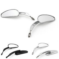Rearview Side Mirrors For Motorcycle Touring Softail Road King Glide Fat Boy