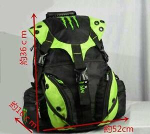 Monster Energy Backpack Black Green Logo 36cm*16cm*52cm Outdoor Bikebag