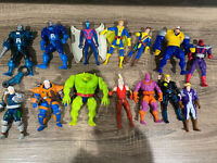 Vintage 90s Marvel Toy Biz Figure Lot X-men Apocalyse Cable Cannonball Forge