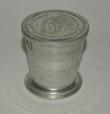 Vintage Aluminum Folding Telescoping Ship Sailing Nautical Camping Water Cup USA