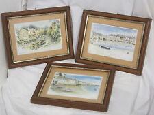 lot de 3 lithographie bretonne , belle île par L. TREHIN