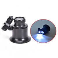 LED Light 20X Eye Loupe Magnifier Watch Repair Tool Monocular Glass Magnif xi
