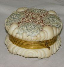 Antique C.F. Monroe Wavecrest Baroque Shell Mold Hinged Jewel Box