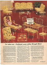 VINTAGE 1975 YELLOW WROUGHT IRON METAL FURNITURE CATALOG PRINT ADS CLIPPING