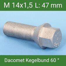 20 St. Radschrauben M14x1,5 Radbolzen Dacromet Kegelbund 60° SW17 L: 47 mm