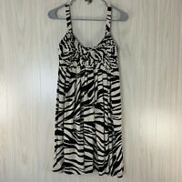 Calvin Klein Sleeveless Knit Dress Women's Size 4  Zebra Animal Print