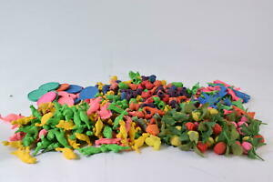 HUGE Lot Rare Vtg 1980s Coin Erasers Roses Dinosaurs Planes Rubbers Gommes 80s