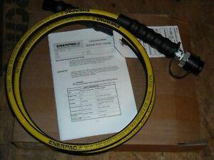 """ENERPAC HC9206 6' Hydraulic Hose 3/8"""" NPT + CH-604 1/4"""" ID Heavy Duty 10,000 PSI"""