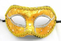Mens Womens Velvet Venetian Masquerade Mask Eye Masked Ball Prom Wedding Party