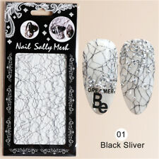 3D Nail Art Tips Stickers Gold Silver Embossed Decals DIY Manicure Self-Adhesive