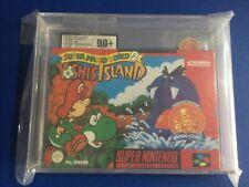 Super Nintendo Game snes Yoshis Island Mario world 2  Ukg Graded 90+ Mint euro