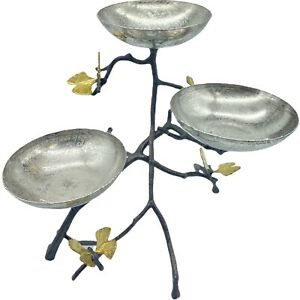 Michael Aram Butterfly Ginkgo Decorative Triple Bowl Set with Spoons