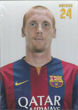 Postal postcard 24 MATHIEU  jug.  FC BARCELONA 14/15