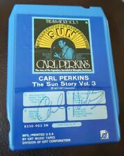 Carl Perkins Autographed 8 Track Tape Signed