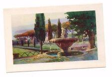 Italy - Rome / Roma, Villa Borghese, Piazza Siena - Vintage Postcard