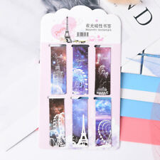 6pcs Starry Sky Paper Bookmarks Magnetic Book Marks School Supplies StationeryME