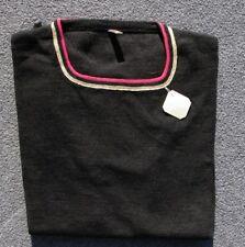 Authentique vintage petit tricot gris  femme - Col carré - Laine mélangé - T3