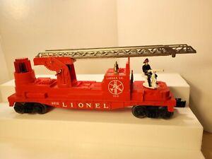LIONEL TRAINS Postwar No. 3512 OPERATING Fireman and Ladder Car SILVER C-7