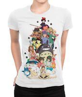Studio Ghibli Combo T-Shirt, Hayao Miyazaki Anime Tee, Women's All Sizes