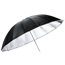 "New 43"" 110cm Black Silver Reflective Umbrella for Photo Light Studio Softbox"