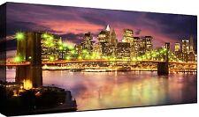 Quadri Moderni cm 100x50 stampa su tela 1 pz Quadro Moderno Città New York