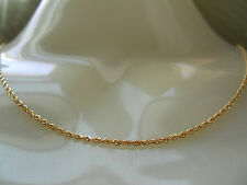"""MICHAEL ANTHONY 10K YELLOW GOLD DIAMOND CUT ROPE CHAIN NECKLACE 10KT 16"""" 2.97G"""