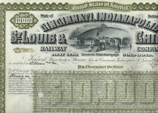 Cincinnati, Indianapolis, St. Louis & Chicago Railway Co., 1930s, 10.000$ Bond