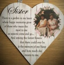 Personalised Remembrance Photo Plaque Sign Gift Keepsake Mum Dad Sister Friend
