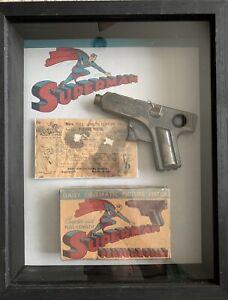 Vintage 1940's Superman Daisy Cinematic Picture Pistol w/box & instructions!