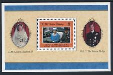 1997 SOUTH GEORGIA ROYAL GOLDEN WEDDING MINISHEET FINE MINT MNH