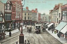 Derby St Peters Street Vintage Postcard 20.12