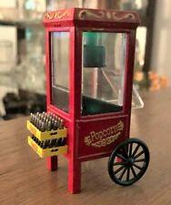 Popcorn Cart Miniature w Danbury Mint Coke Cases (2) 1/24 Scale Diorama Item