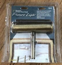 """Angelo  7 """" Standard Antique Brass Finish Picture Light Included #75042 NIB"""