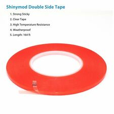 Double Sided Super Sticky Clear Tape Red Strong 5m Craft DIY Roll 2 3 5mm