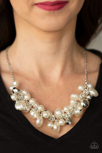 Battle of the Bombshells White Necklace By: Paparazzi