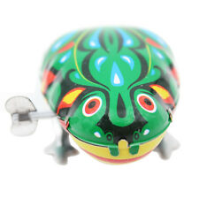 Vintage Metal Wind-up Jumping Frog Clockwork Tin Play Funny Toy Classic Gifts