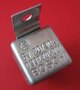 Original 6 Volt Bosch Relay VW / Porsche Headlight, Dimmer, Horn, Fog, Flasher