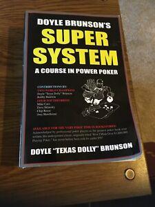 Doyle Brunson's Super System : A Course in Power Poker 2002 Cardoza Paperback