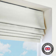 White Roman Blind - Blackout Thermal - Many Sizes - Made to measure in the UK