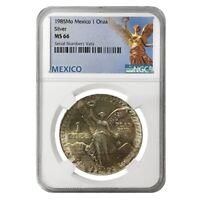 1985 1 oz Silver Mexican Libertad NGC MS 66
