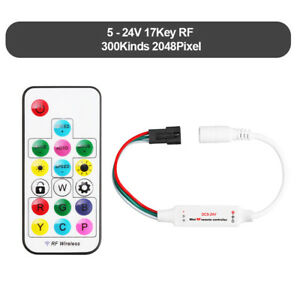 SP104E RF Remote Controller/Controller for 5-24V IC LED Strip WS2811,WS2812B.