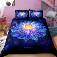Linen Blue Dream Floral Queen/King/Single/Double Bed Doona/Duvet/Quilt Cover Set