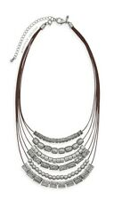 Premier Designs STYLE CENTER silver bead bib necklace RV $48 Display