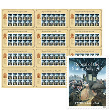 USPS New Repeal of the Stamp Act Press Sheet with Die Cuts